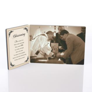 Personalised Christening Photo Plaque Product Image