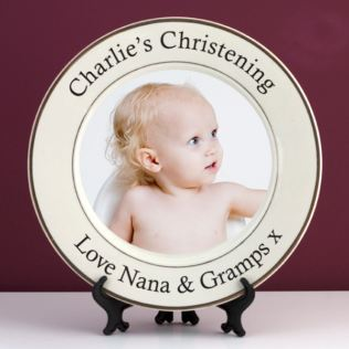 Personalised Christening Photo Plate Product Image