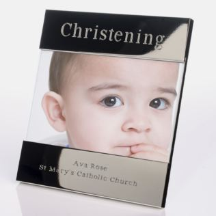 Engraved Christening Photo Frame Product Image