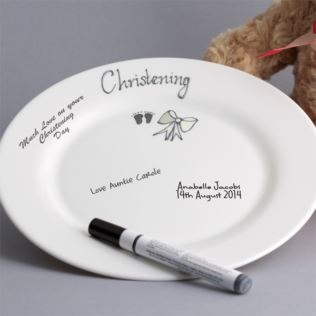 Christening Signature Plate Product Image