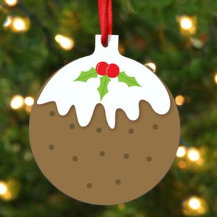 Personalised Christmas Pudding Hanging Ornament Product Image