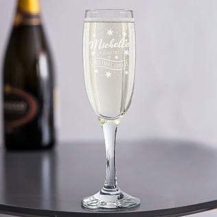 Personalised Christmas Cheer Champagne Flute Product Image