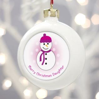 Personalised Merry Christmas Daughter Bauble Product Image