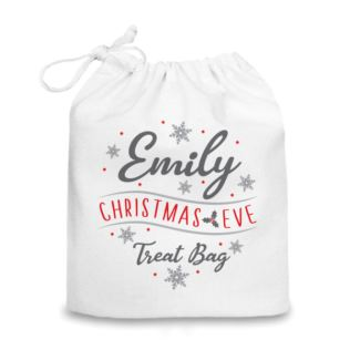 Personalised Christmas Eve Drawstring Bag Product Image