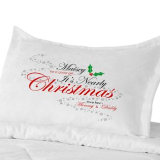 Personalised Be Good It's Nearly Christmas Pillowcase Product Image