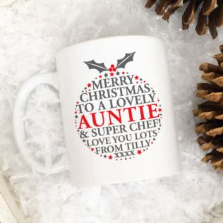 Personalised Christmas Pudding Message Mug Product Image