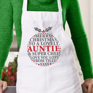 Personalised Christmas Pudding Message Apron Product Image