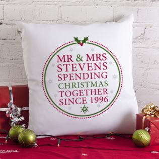 Personalised Spending Christmas Together Cushion Product Image