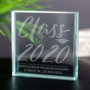 Personalised Class Of Graduation Glass Keepsake Product Image