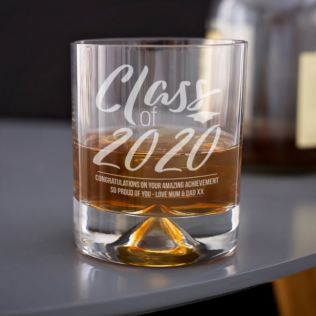 Personalised Class Of Graduation Whisky Tumbler Product Image