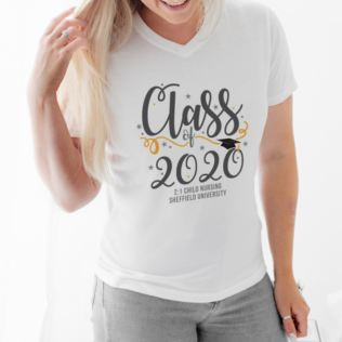 Personalised Class Of Graduation Female T-Shirt Product Image