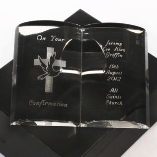 Personalised Confirmation Day Crystal Bible Product Image