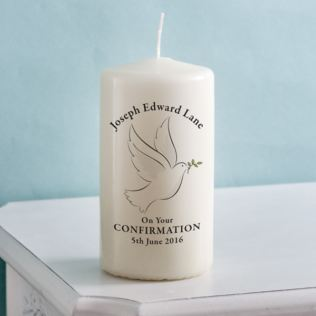 Personalised Confirmation Candle Product Image