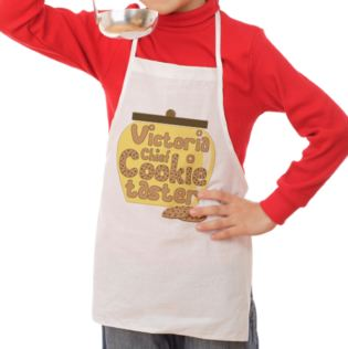Personalised Chief Cookie Taster Children's Apron Product Image