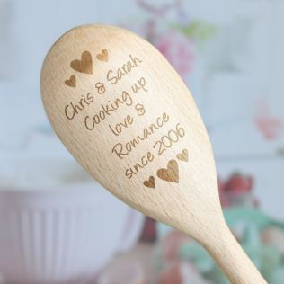 Cooking Up Love Personalised Wooden Spoon Product Image