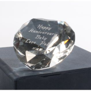 Engraved Crystal Heart Paperweight Product Image