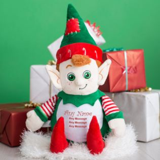 Personalised Embroidered Christmas Elf Product Image