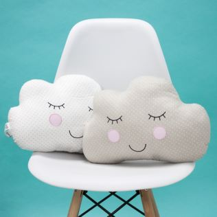 Pair Of Sweet Dreams Cloud Cushion Product Image