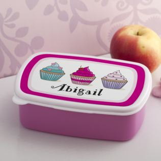 Personalised Cupcake Lunch Box Product Image