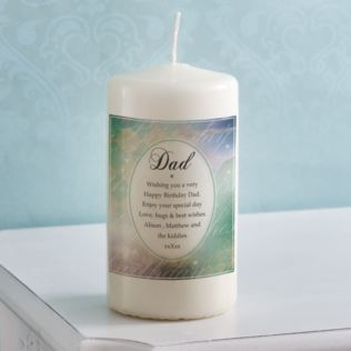 Personalised Birthday Wishes Dad Candle Product Image