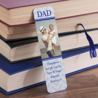 Personalised Dad Photo Upload Bookmark Product Image