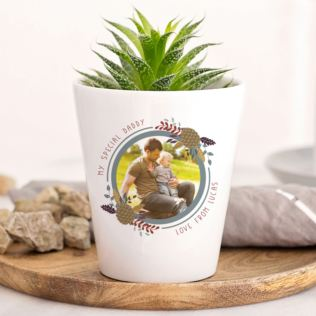 Personalised Photo Plant Pot For Dad Product Image
