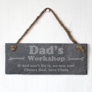 Dad's Workshop Personalised Slate Plaque Product Image