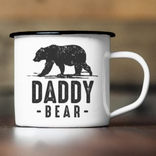 Personalised Daddy Bear Enamel Mug Product Image