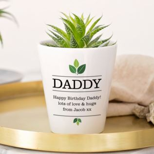 Personalised Daddy Plant Pot Product Image