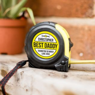 Personalised Best Daddy Tape Measure Product Image