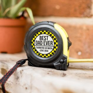 Personalised Best Dad Ever Tape Measure Product Image