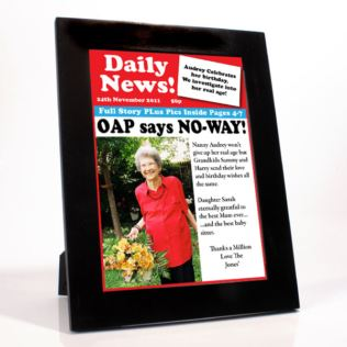 Personalised Birthday News - Front Page Product Image