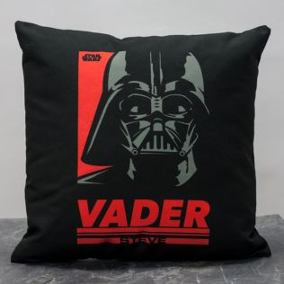 Personalised Star Wars Vader Pop Art Cushion Product Image