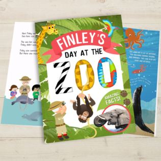 Personalised My Day at the Zoo Book Product Image