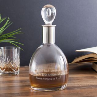 Personalised Dartington Crystal Soren Short Decanter Product Image