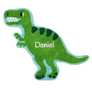 Personalised Embroidered Roarsome Dinosaur T-Rex Rug Product Image