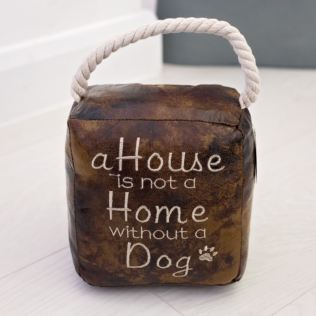 A House Is Not A Home Without a Dog Door Stop Product Image