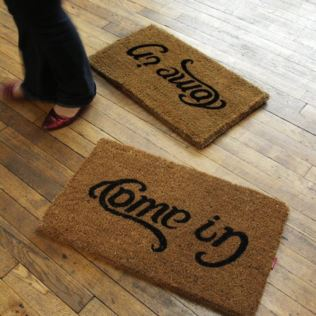 Come In & Go Away Doormat Product Image