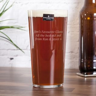 Personalised Dartington Just The One Pint Beer Glass Product Image