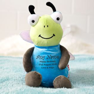 Personalised Embroidered Cubbies Dragonfly Soft Toy Product Image