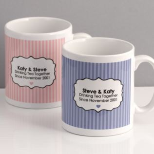 Drinking Tea Together Since... Personalised Pair of Mugs Product Image