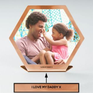 Personalised Copper Hexagonal Photo Print Product Image