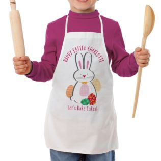 Personalised Easter Bunny Children's Apron Product Image
