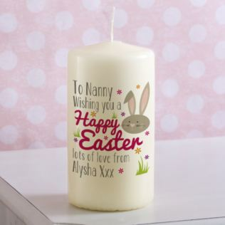 Personalised Happy Easter Bunny Candle Product Image