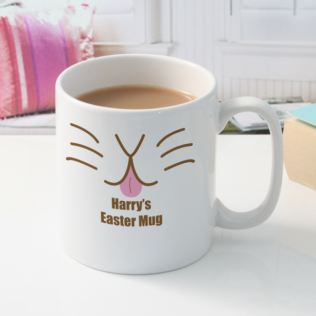 Easter Bunny Rabbit Personalised Mug Product Image