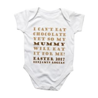 Eat My Easter Chocolate Personalised Baby Grow Product Image