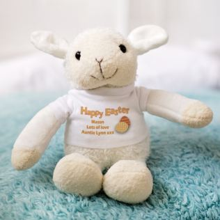Personalised Easter Lamb Soft Toy Product Image