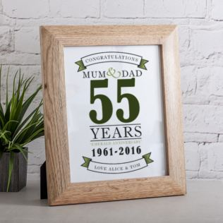 Personalised Emerald Anniversary Framed Print Product Image