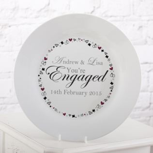Personalised You're Engaged Plate Product Image