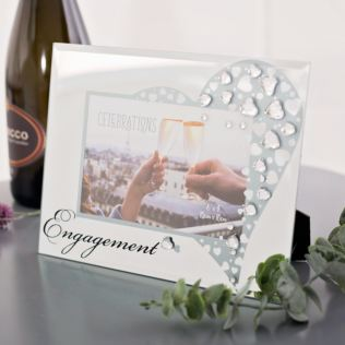 Glass Engagement Frame With Crystals Product Image